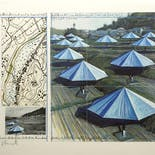 【Signed Poster】Christo & Jeanne-Claude:The Umbrellas, Japan-USA, ,1984-91, Japan site